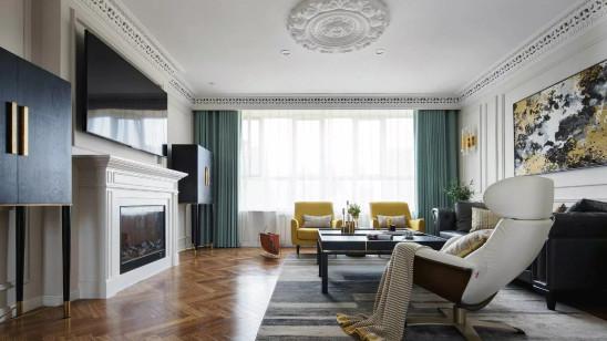 简约又时尚的马卡龙色打造时尚美式新居