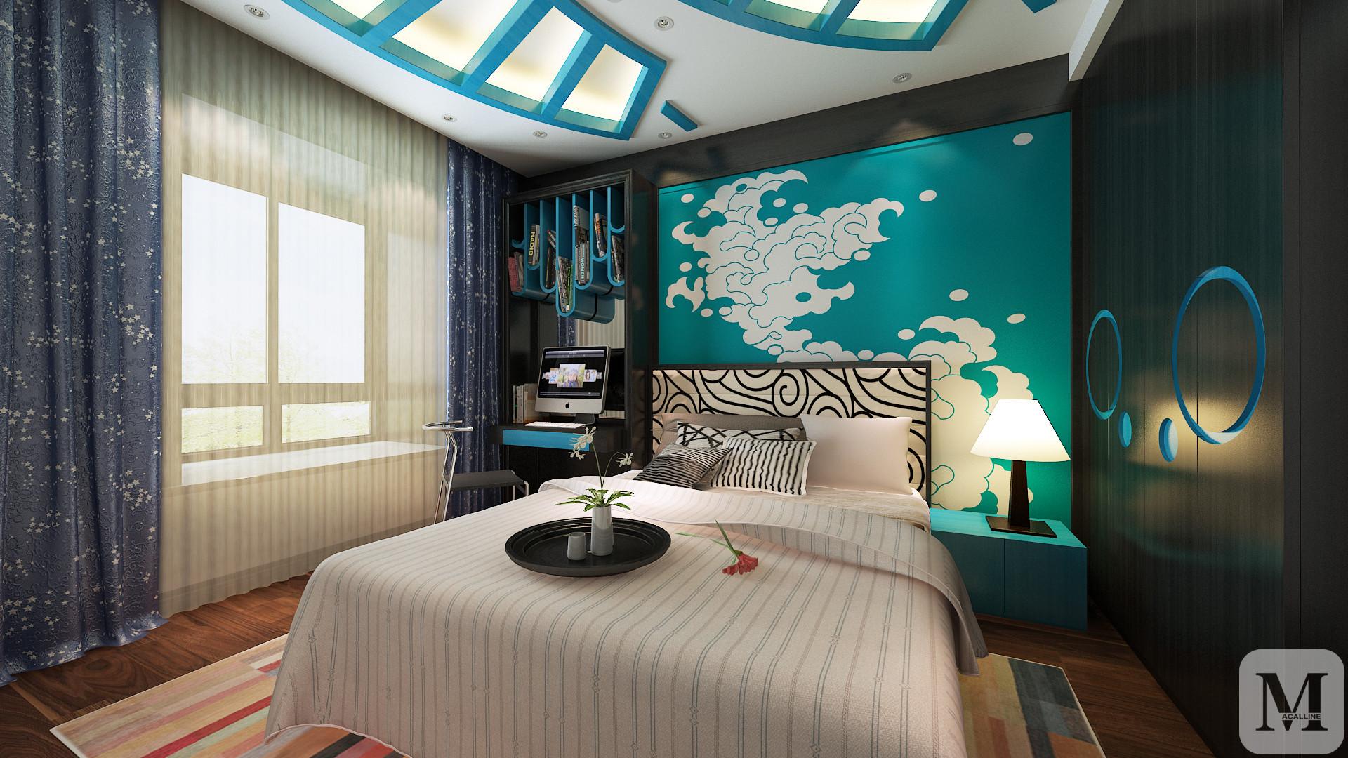 现代中式卧室装修效果图 装饰你的浪漫情怀