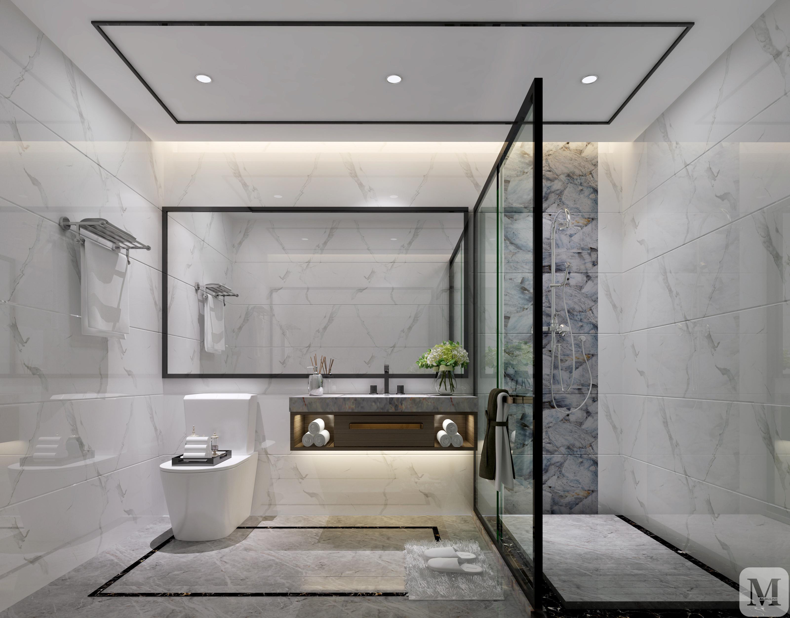 混搭卫生间浴缸装修效果图