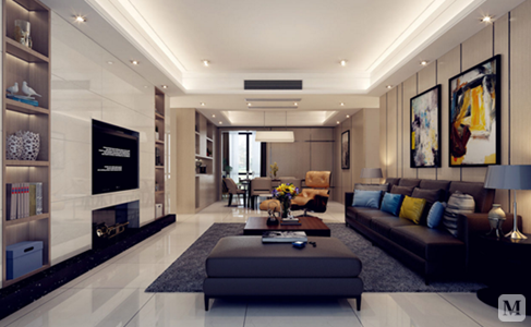 现代简约风格客厅装修图片 给您带来不同的视觉效果图片