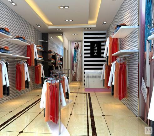 如果是男式服装店,可以选择矩形,正方形这块直地砖,如果是女式服装店图片