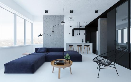 明亮北欧风格一居室设计