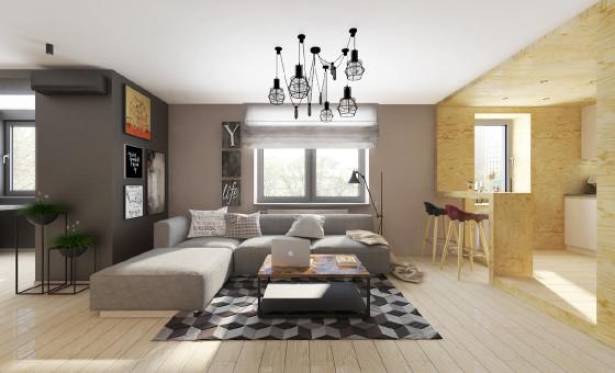高力俬巢公寓61平简约风格