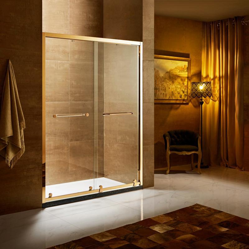 不锈钢双移门系列淋浴屏风