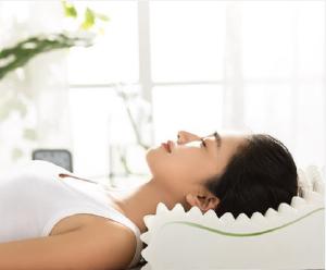 顾家 顾家家居天然乳胶枕颈椎按摩枕头睡眠记忆枕 顾家舒适乳胶枕 P008XJ