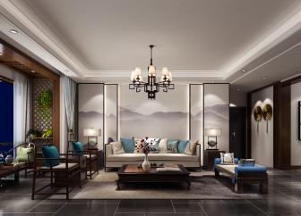 新蒲花园新中式风格180平方平层