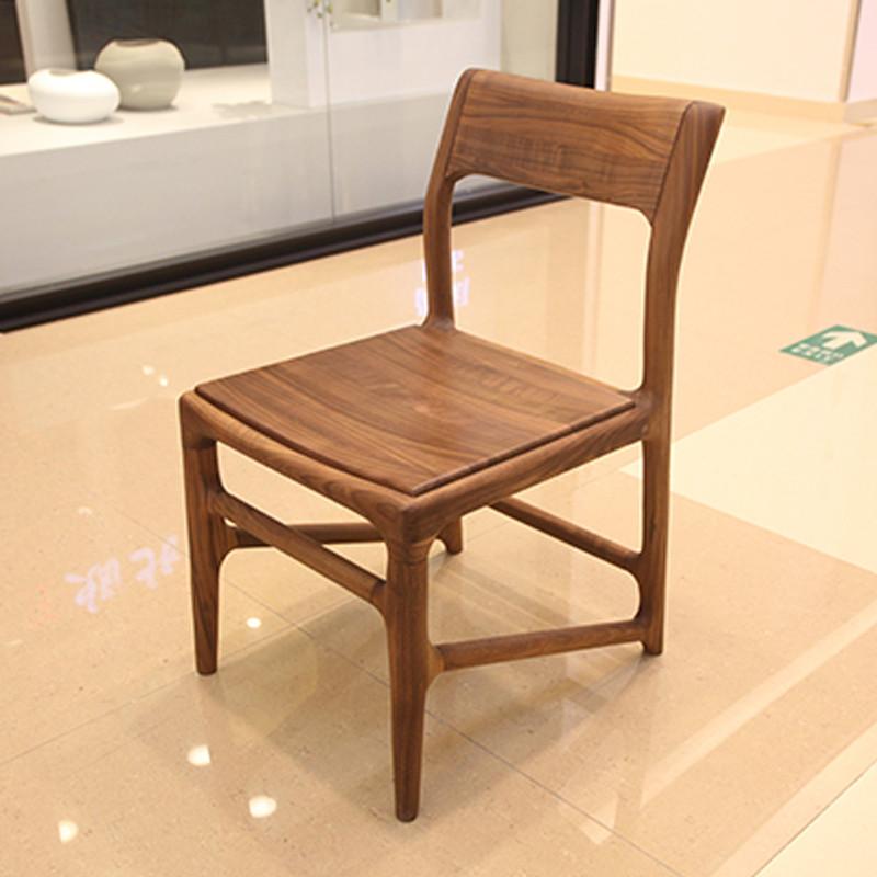 北欧E家2069系列全实木餐椅M-6903