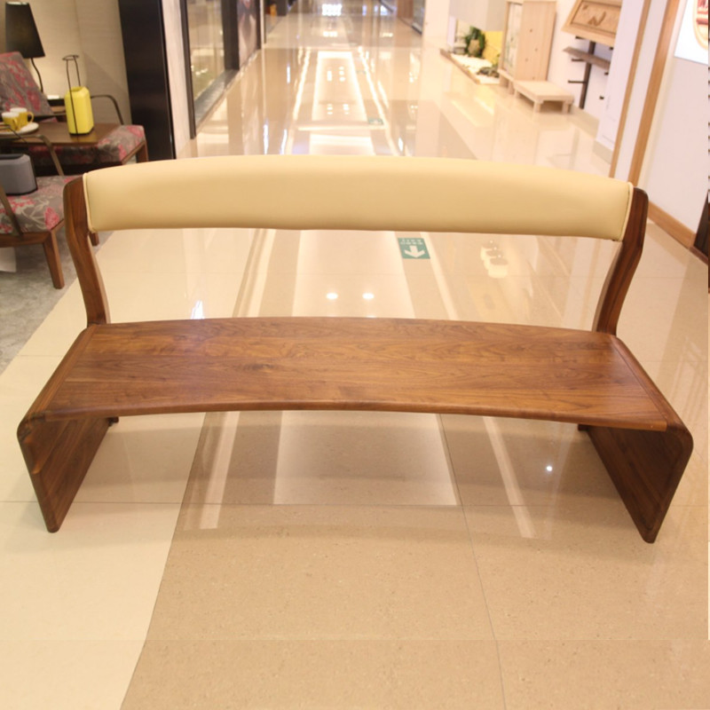 北欧E家2049系列全实木长凳M-08