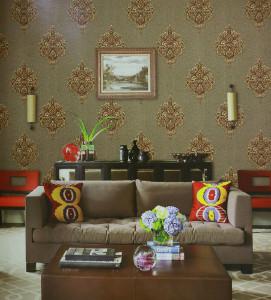 美克思丽 墙纸 欧式风格墙纸适合客厅卧室背景墙 Y78201
