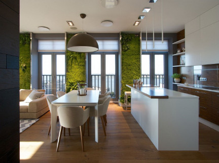 164㎡现代简约的家:绿植墙展现别样活力