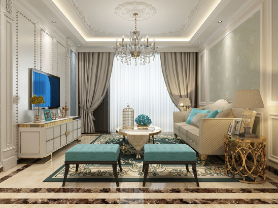 简欧风格的室内设计打破以往欧式深沉的色彩