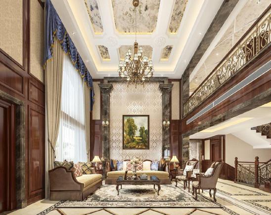 纯正的美式古典风格,600㎡别墅浪漫怀旧