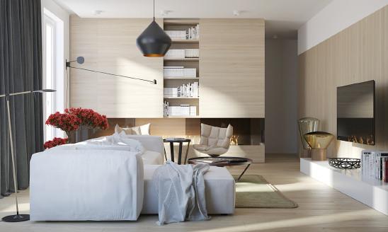 96㎡黑白+木色,打造简约个性空间