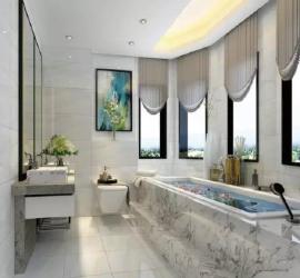 卫生间安装效果图  这样设计更加美观实用