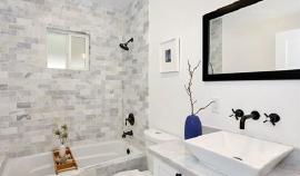卫生间安装效果图  带您欣赏简约素雅的设计