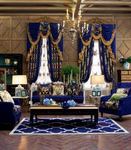 索弗仑窗帘 窗帘 美式客厅窗帘 1700系列 YB1702-1