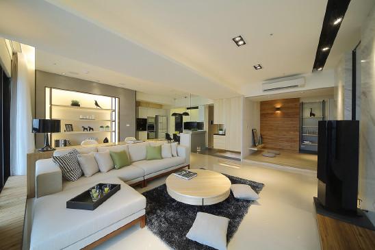 108m²极简三房,现代和北欧的结合空间