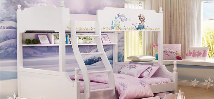 实木挂梯儿童床