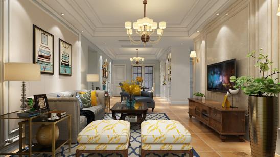 保利西山林语136平美式风格设计案例