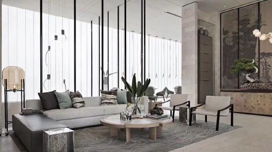 盘古大观现代奢华风格别墅装修设计