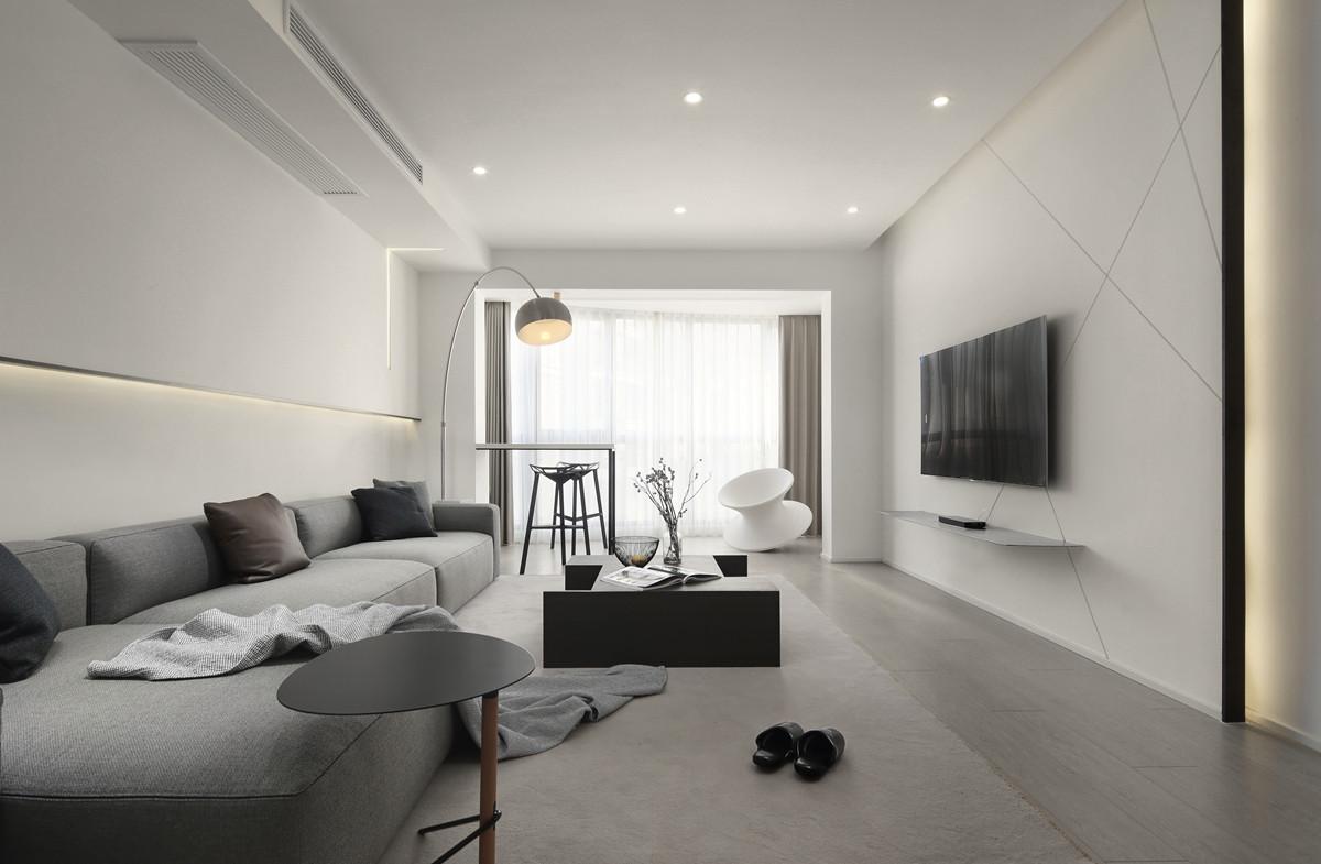 """70万打造110㎡一居室,这个""""黑白灰""""丁克之家任性又高级!"""