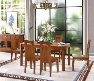 A家 长餐台 中式实木长餐台 木色天香 F202-160