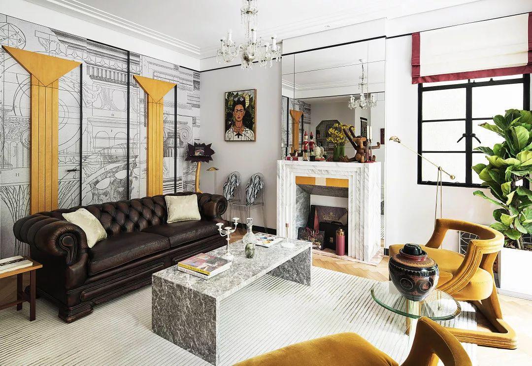 亮彩色系Art Deco,上海90平米老洋房焕发新生机