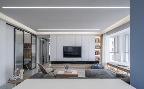 100m²三房简约风设计,光的二重奏