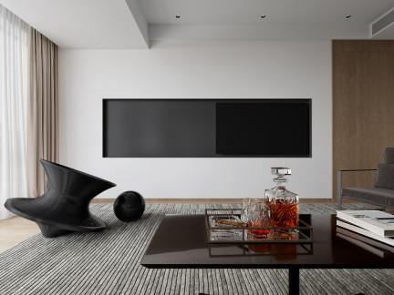 129㎡现代风三房,纯粹质感的简洁