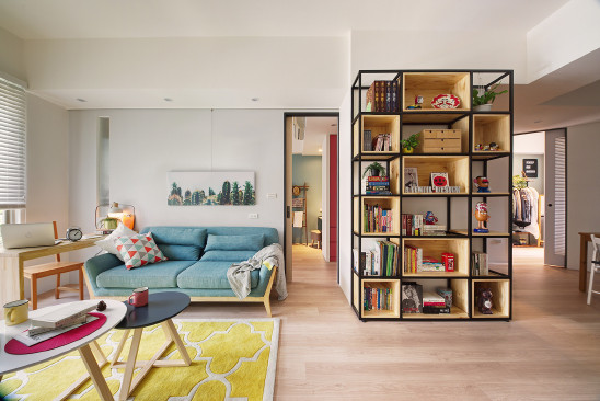 80㎡缤纷和谐两房,用上家里的每平米