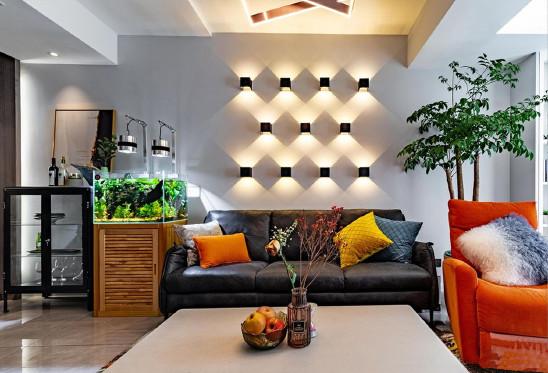 壁形成灯沙发背景墙