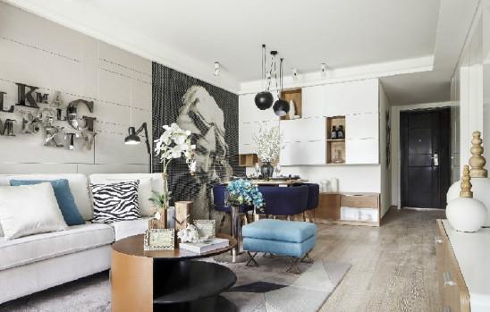 98平米两居室现代简约风格