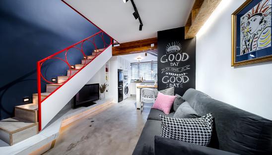18平老房子借用公共区域改造超大卧室