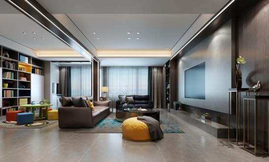 滨湖双玺155平现代风格设计案例