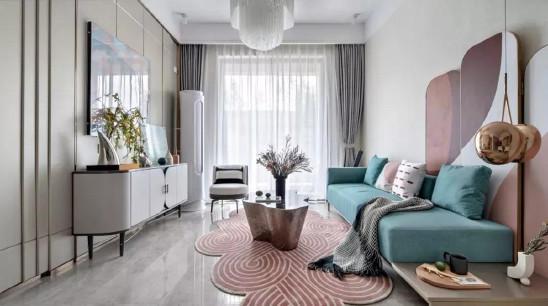低饱和度+多色彩,营造出极简的时尚空间