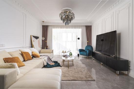 162平米三室两厅,石膏线条太有质感了