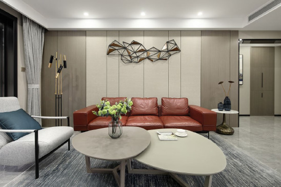 136㎡三室两厅,现代简约风律师的家