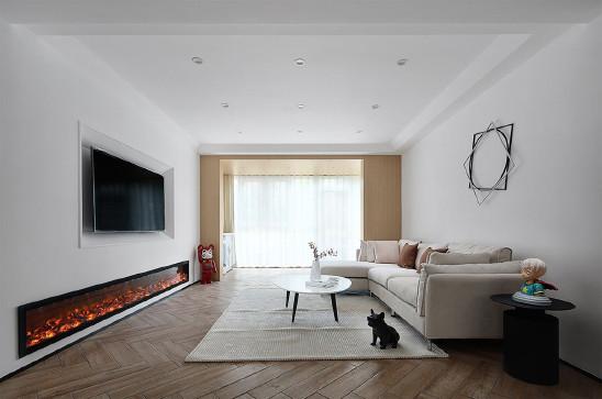 140㎡三室两厅,厨房开放式设计更简约