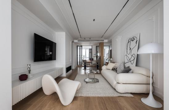 法式留白 |奶油色+玻璃元素,打造浪漫轻住宅!